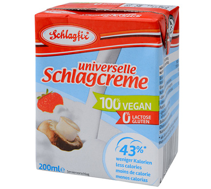 Universelle Schlagcreme 100% vegan 200ml