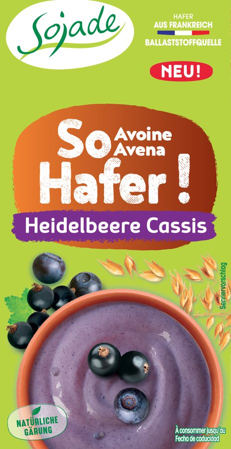 Bio So Hafer! Heidelbeere-Cassis 2x100g