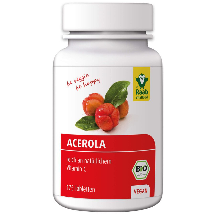 Bio Acerola, vegan, 175 Tabletten à 500 mg, Dose
