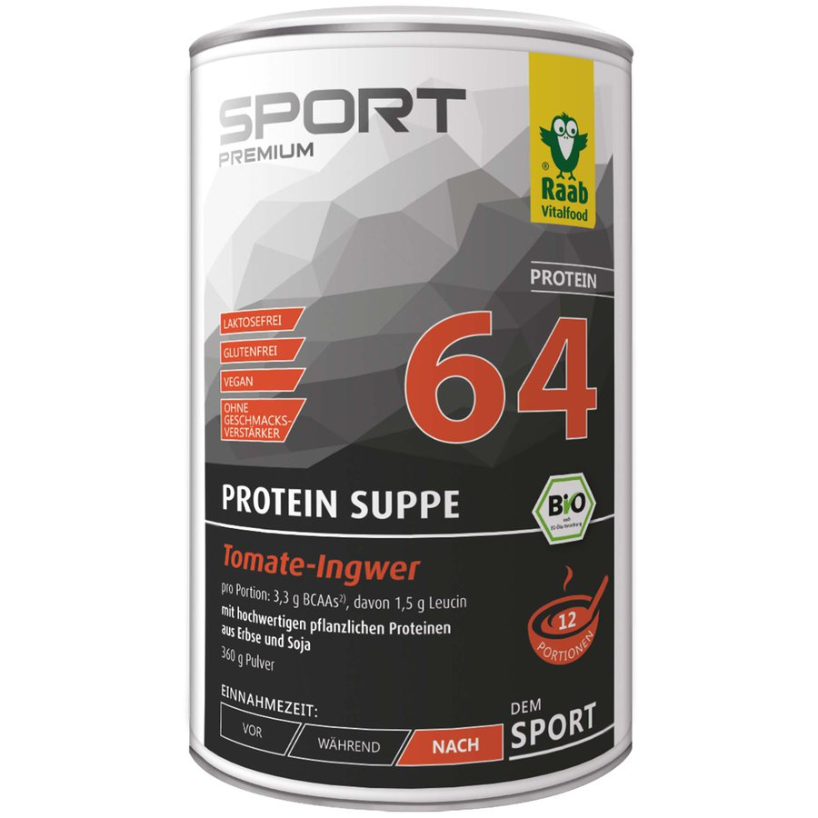 Bio Protein Suppe 64, Tomate-Ingwer, 500g Dose