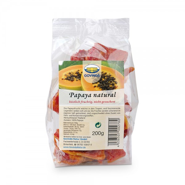 Papaya ungezuckert 200g
